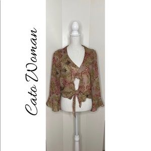 Cato Woman Sheer Wrap Jacket.